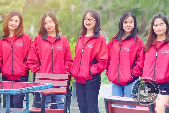 Nhận làm áo khoác gió đồng phục theo yêu cầu